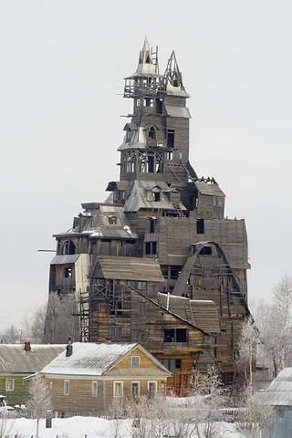 13ти этажный деревянный дом занесён в Книгу рекордов Гиннеса.